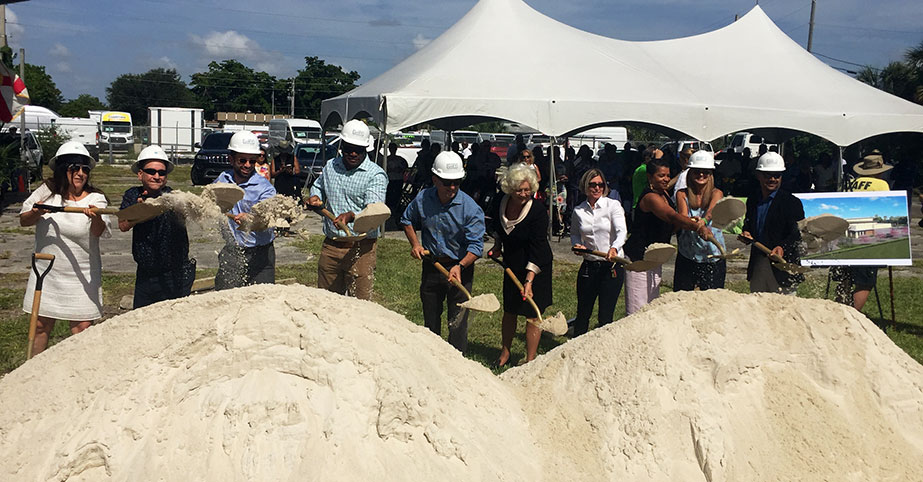 Charlotte J. Burrie Civic Center ground breaking